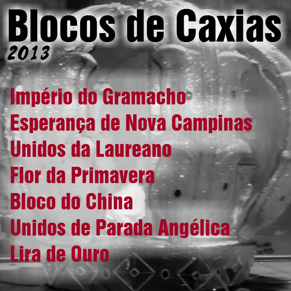 Contracapa do CD Blocos de Duque de Caxias 2013