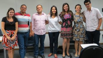 Da esquerda para a direita: Mariana Cavalcanti, Alexandre Marques, Nielson Bezerra, Thaís Costa, Renata Oliveira, Dani Francisco e Arthur William