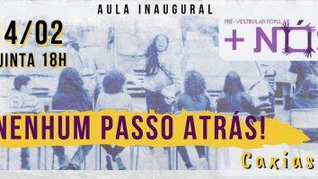aula inaugural do Pré-Vestibular Popular +Nós, em Caxias
