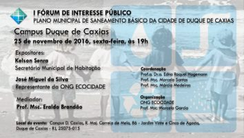 forum saneamento básico caxias