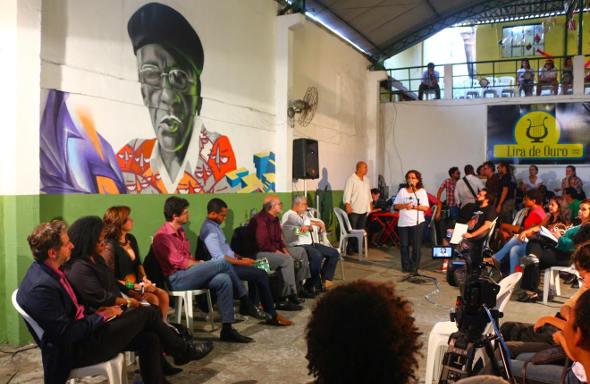 Ministro da Cultura, Juca Ferreira, na Lira de Ouro, em Caxias - foto Filipo Tardim
