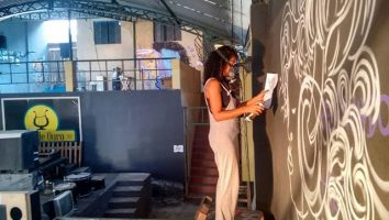 Lu Brasil rumo ao México graffiti